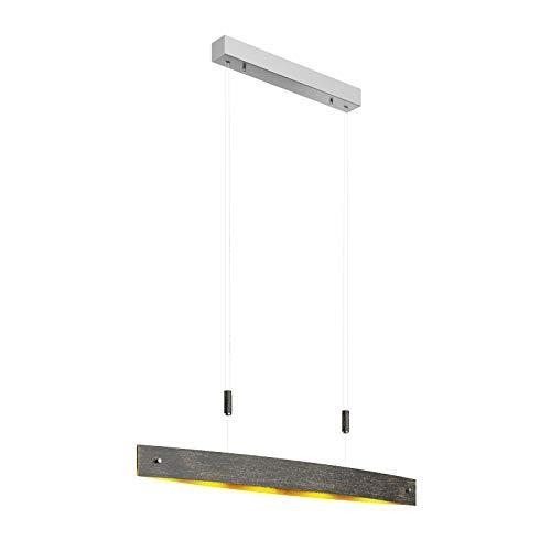 Lucande LED Pendelleuchte 'Lio' (inkl. Touchdimmer) dimmbar (Modern) in Schwarz aus Metall u.a. für Wohnzimmer & Esszimmer (5 flammig, A+, inkl. Leuchtmittel) - Hängeleuchte, Esstischlampe