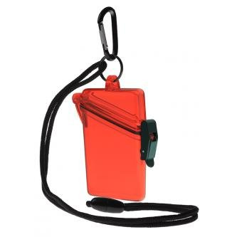 Witz See It Safe Small Red Waterproof ID Badge Holder Sport Case (P/N 00406)