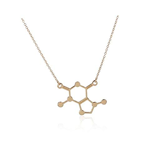 Youkeshan Caffeine Pendants Handmade Custom Chemical Reactions, Molecular Dopamine Necklace