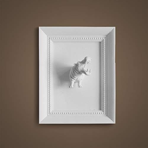 DOGOGO creatieve hars 3D dierlijke foto ingelijst muur Decor vintage kunst standbeeld ambachten beeldjes voor woonkamer