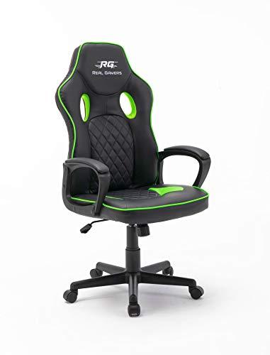 Gaming Computerstuhl Real Gamers Basic schwarz grün Bürostuhl Drehstuhl Gamer Sessel