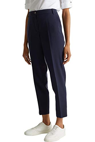 ESPRIT Collection Damen 999EO1B800 Hose, Blau (Navy 400), W(Herstellergröße: 40)