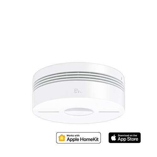 Eve Smoke - Detector de humo y calor con conexión, testeo automático, alarmas en varias habitaciones, non occorrono bridge o gateway, Bluetooth Low Energy, certificación DIN EN 14604 (Apple HomeKit)