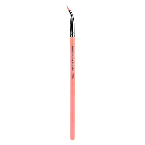 Bdellium Tools Professional Eco-Friendly Makeup Brush Pink Bambu Series - Bent Eyeliner 708