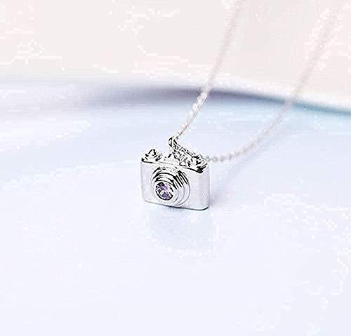 Yiffshunl Collar Mini Cámara Collar Cadena de clavícula Corea Corto Temperamento Salvaje Personalidad Collar Femenino Cadena Colgante para Mujeres Hombres Chica