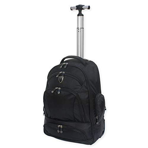 Wheeled Backpack Trolley Laptop Rucksack Cabin Hand Luggage Camping Hiking Travel Bag - RT633