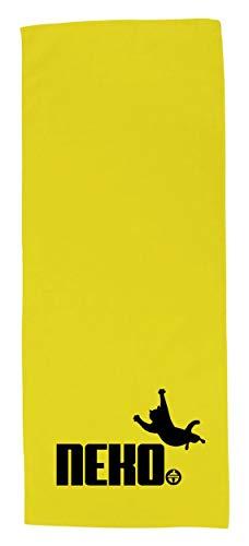 おもしろ タオル アニマル 鈴猫【猫拳法】【黄シャーリングタオル】【黒版】 PRIME