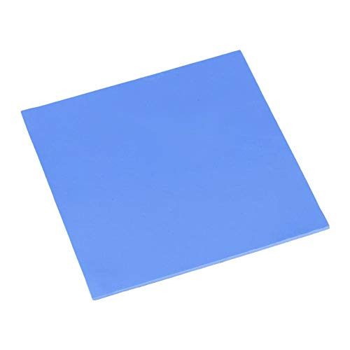Zerone - Almohadilla térmica de silicona para CPU, pasta aislante de separación, lámina de conductividad térmica de aislamiento, almohadillas de enfriamiento para disipador de calor (azul)