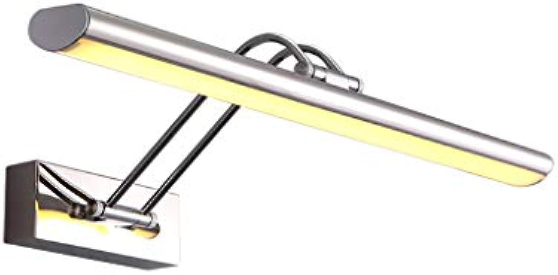 LQ Badezimmerspiegel Licht LED Edelstahl Bad Beleuchtung Spiegel Scheinwerfer Badezimmer Make-Up Lampe Spiegel Kabinett Licht (Farbe   Warmes licht, gre   45 cm)