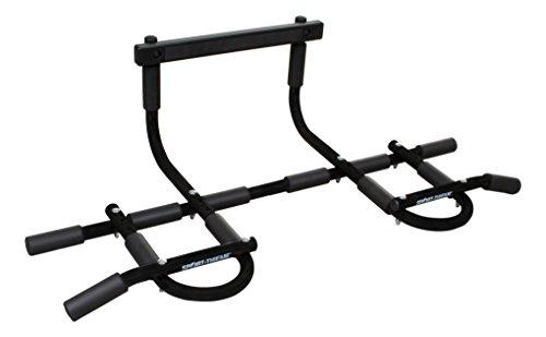 Sport-Thieme Multifunktionales Türreck Plus   Gepolsterte Klimmzugstange für Türrahmen bis Breite 92 cm u. Tiefe 21 cm   Bis 110 kg belastbar   Gewicht: 2 kg   Metall, Schaumstoff