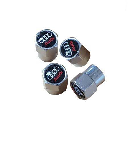 Tapones de válvula adecuados para Audi A2, A3, A5, A6, S-Line A8, Quattro Q2, Q5, Q7.