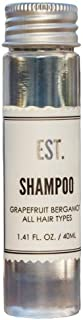 EST. Shampoo with Grapefruit-Bergamot fragrance, Biodegradable/Recyclable Bottle with Screw Top, 1.41oz / 40ml, Pack of 48
