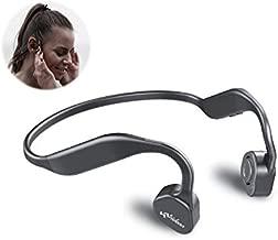 Bone Conduction Headphones Bluetooth V5.0 - Vidonn F1 Sports Open Ear Wireless Headset Sweatproof w/Mic - for Cycling Running Driving Gym - Grey