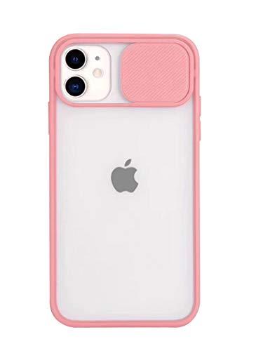 Tybiky Carcasa protectora para iPhone 7 Plus para iPhone 8 Plus, elegante carcasa con protección para el objetivo de la cámara, translúcida, mate, rígida, de silicona, para iPhone 7/8 Plus, color rosa
