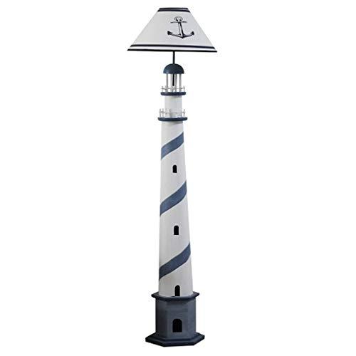 DJYD Modernes Leselicht Retro Leuchtturm Stehlampe Wohnzimmer Schlafzimmer Nachttischlampe Energiespar Kinder Vertikal Tablamp Sofa Lampe Elegante Stehleuchte/Blau FDWFN (Size : Blue)