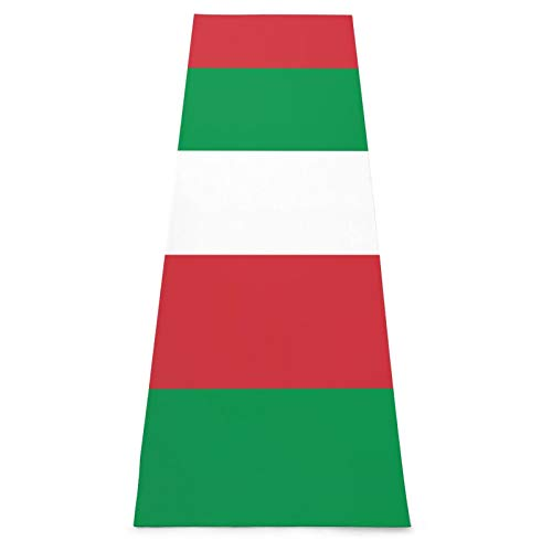 Alfombra de yoga antideslizante con bandera de Italia para yoga, pilates, gimnasio en casa y entrenamiento