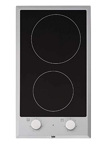 Beko HDCC 32200 X Elektro-Kochfeld / Glaskeramik / Breite: 22.8 cm / Edelstahlrahmen / 6 Kochstufen