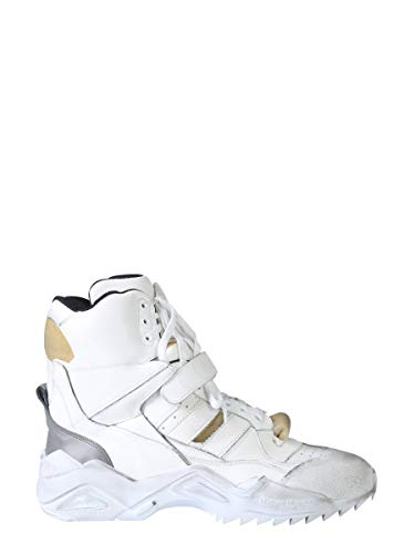 Maison Margiela Luxury Fashion Herren S37WS0463P2082H1609 Weiss Leder Hi Top Sneakers | Herbst Winter 19