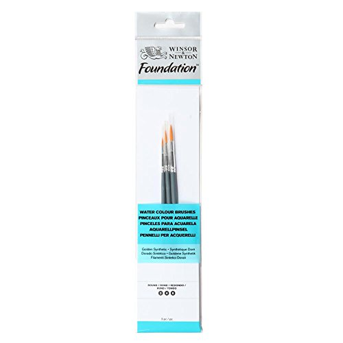 Winsor&Newton - Foundation 3 Pennelli Acquarello - Round 2,4,6