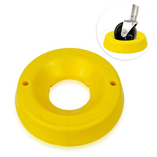 Zone Tech Trailer Jack Wheel Dock - Premium Quality Highly Visible Travel Doughnut Chock for Trailer Tongue Jack Wheel