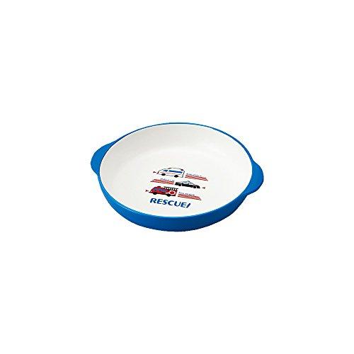 『クラフトレシピ キッズ カレー パスタ皿 はたらくくるま 食洗機対応 電子レンジ対応 カレー皿 楕円 こども』の1枚目の画像