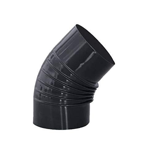 S&M 485152 Codo 45° En Color Vitrificado 900°C-150, Negro