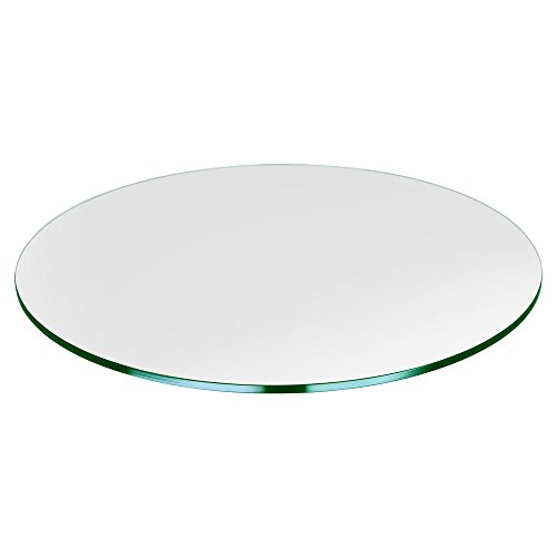 30' Round Glass Table Top, 1/4' Thick, Tempered, Flat Polished