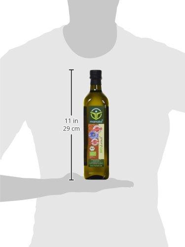 Manako BIO Leinöl human ABSOLUT FRISCH ab Ölmühle Glasflasche, 1er Pack (1 x 750 ml) – Bio - 3
