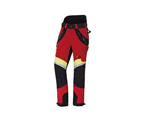 PSS X-Treme Air Schnittschutzhose rot/gelb, die Sportliche, Größe 60