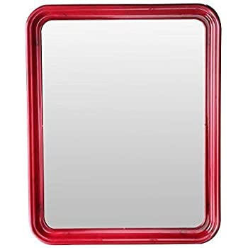 Fantasy Mirror Square Plastic Frame Mirror - Red