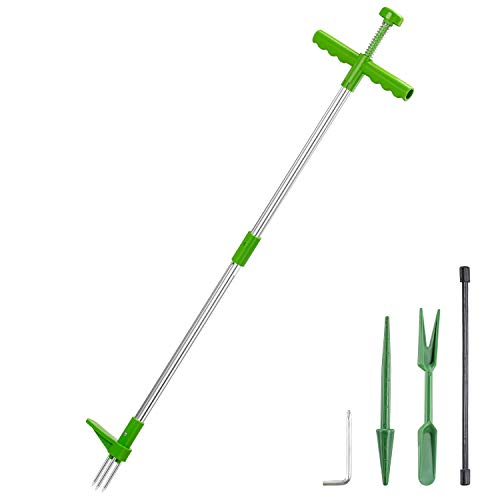 AMYGG Weed Puller Stand-Up Weeder Manual Weed Puller Root Removal Tool