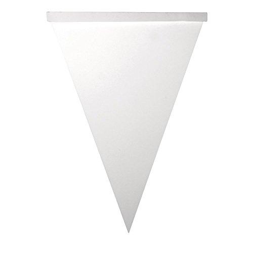 Rayher Hobby 71912102 papieren wimpel-slinger driehoek, 14,5 x 20 cm, SB-zakje 14 stuks, wit