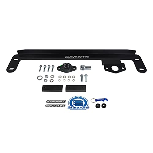Supreme Suspensions - Steering Gear Box Stabilizer Kit for 2003-2008 Dodge Ram 2500 3500 High-Strength Steel Stabilizer Bracket (Death Wobble Fix) 4WD Only