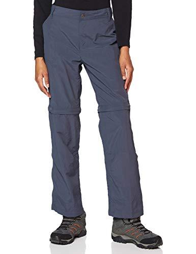 Columbia Silver Ridge 2.0 Convertible Pantalones de Senderismo, Mujer, Gris India Ink, 38W Regular