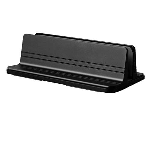 TRUTDOT ノートパソコンスタンド 縦置き 調節可能 pc スタンド 縦置き スペース節約 ノート pc スタンド ホルダー アルミ製 ブラック