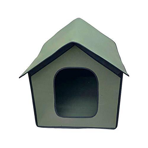 Caseta de jardín y refugio para gatos al aire libre Cat Kennel...