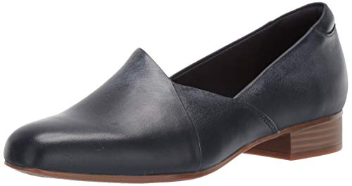 Clarks Women s Juliet Palm Loafer  Navy Leather  7 M US
