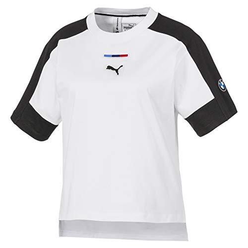 PUMA BMW MMS Wmn Street tee Camiseta, Mujer, White, XL