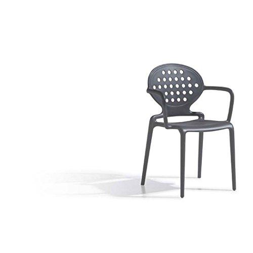 Scab Design Colette Sedia di Design con Rotonda della Sedia direzionale con braccioli