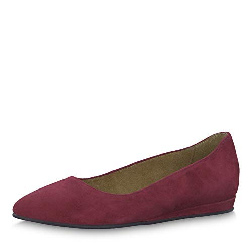 Tamaris Damen Pumps 22118-33, Frauen Keilpumps, Keilabsatz Wedge-Pumps bequem Fashion weibliche Lady Ladies Women,Bordeaux,39 EU / 5.5 UK