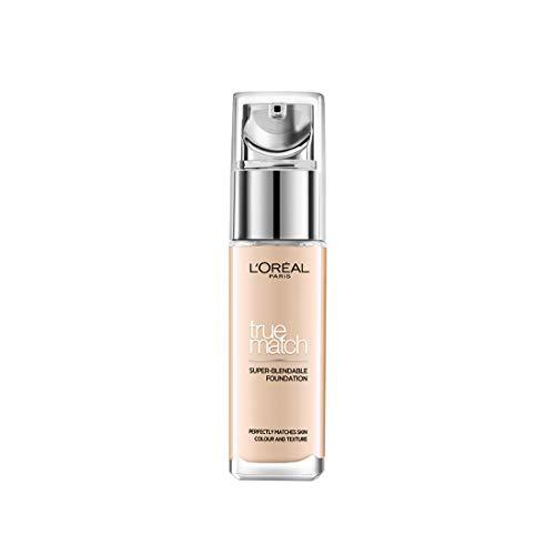 L'Oréal Paris Make Up Accord Parfait, Fondotinta Liquido, Pelli da Secche a Normali, Formula Arricchita con Acido Ialuronico, Colore: Ivoire (1.N), 30 ml