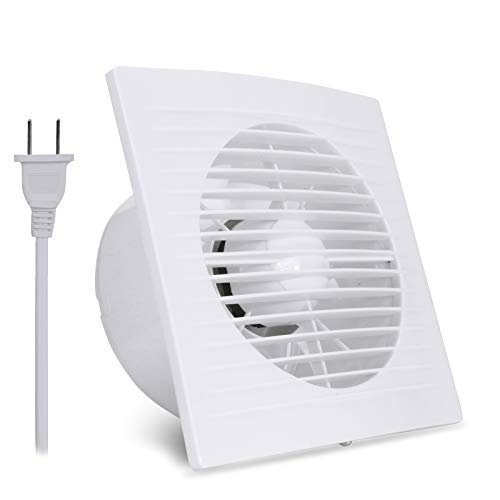 Beleeb 4 Inch Wall-Mounted Exhaust Fan 12W 110V Ventilation Extractor with Anti-backflow Check Valve Chain Switch for Window Duct Glass Grow Tent Bathroom Vents