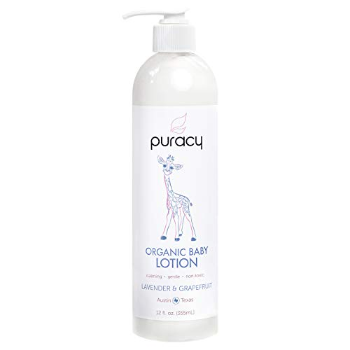 Puracy Baby Lotion, Organic Moisturizer for Infants & Newborns, Natural Calming Lavender &...