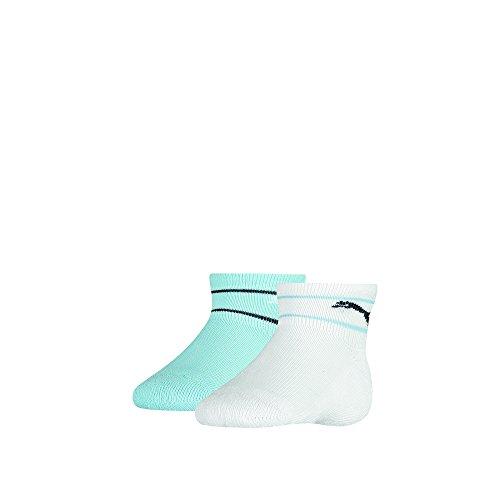 6 Paar Baby Puma Wild Cat Socken für Mädchen und Jungen mit Frotteesohle + sehr schneller Versand durch Amazon Prime, Blau/Wei, 15/18 - 6 Paar