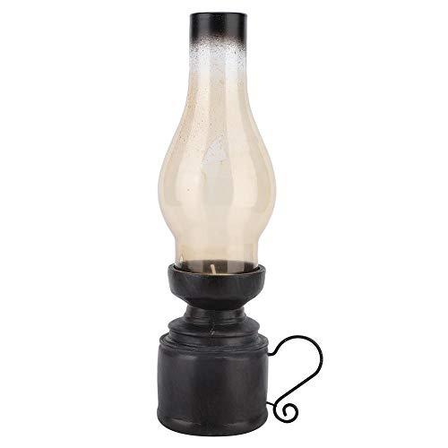 Kandelaar Houder, Nostalgische Kerosene Lamp Kaars Houder Vintage Glas Kandelaar Hars Ambachten voor Home Office Tafel Bureau Decoratie 古铜色a款