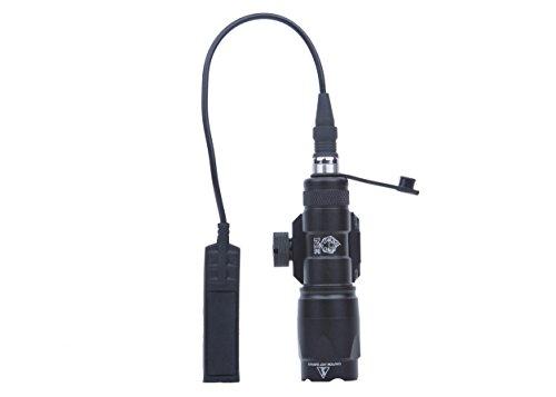Night Evolution M300A - Mini lampada softair tattica LED, 450 lm, lampada militare, con interruttore di pressione e Quick Detachable Guida di montaggio Picatinny NE04001-BK