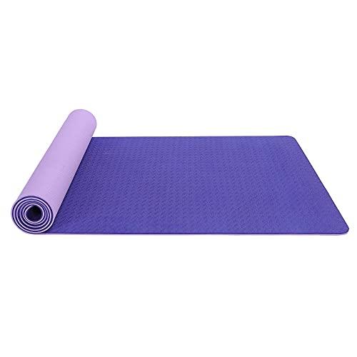 N\C 183CMX61CMX6MM Esterilla de Yoga TPE Antideslizante de Dos Colores Gruesa, Adecuada para Estiramiento, Entrenamiento de Fuerza, Yoga y Entrenamiento de rehabilitación en el Gimnasio o en casa.