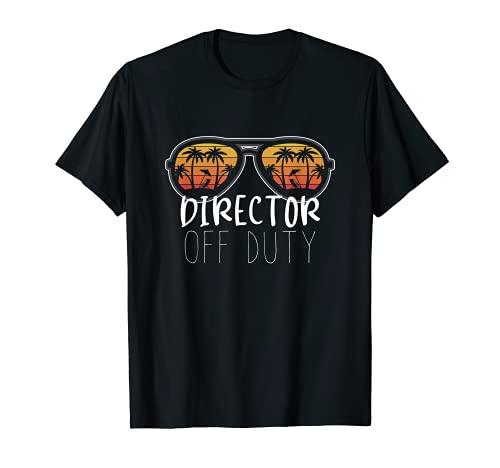 Director Fuera de servicio Gafas de sol Beach Sunset School Camiseta