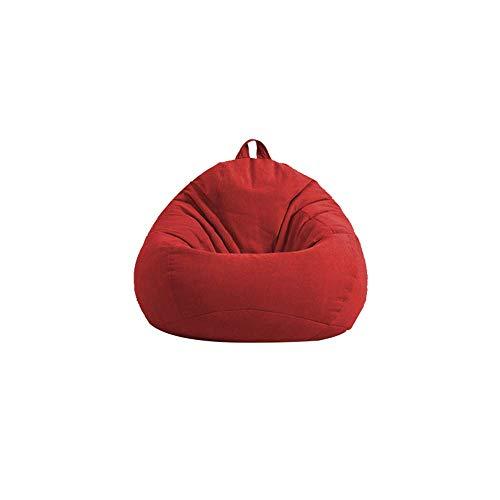 ZZYYLL Original Indoor Outdoor Sitzsack Sessel FüR Kinder Und Erwachsene - In Outdoor SitzsäCke Kissen Sofa Hocker Sitzkissen Bodenkissen (70 * 80 cm),Rot,XL