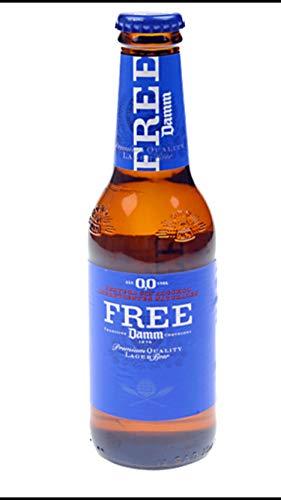 ESTRELLA Free DAMM - Lager sin alcohol (24 unidades, 0,0, 250 ml)
